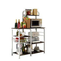 Multipurpose Kitchen Shelf, WensLTD Kitchen Baker's Rack Utility Storage Shelf 35.4″ ...