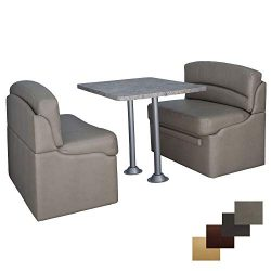 RecPro 42″ Dinette Booth Set with Table and Leg, Includes Two Dinette Booths for RV' ...