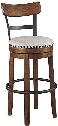 Ashley Furniture Signature Design – Valebeck Tall Upholstered Swivel Barstool – Casu ...
