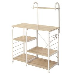 SogesHome 4-Tier Kitchen Baker's Rack Utility Microwave Oven Stand Storage Cart Workstatio ...