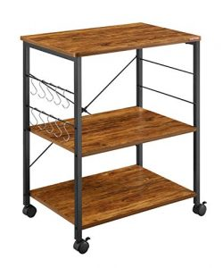 Mr IRONSTONE Vintage Kitchen Cart 3-Tier Kitchen Baker's Rack Utility Microwave Oven Stand ...