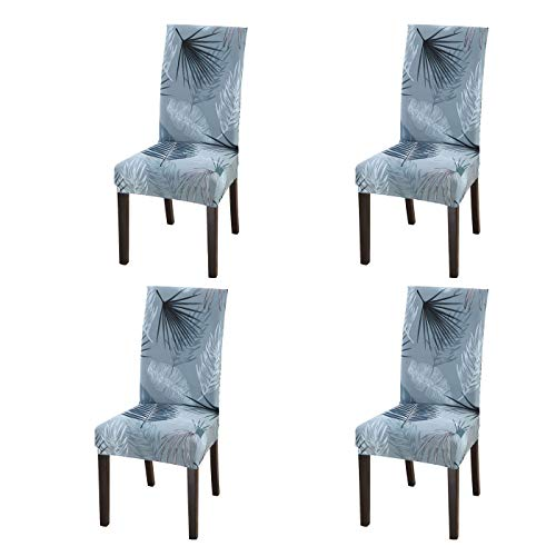 SoulFeel Set of 4 Dining Chair Covers, Stretch Spandex Dining Room Protector Slipcovers (Style 5 ...