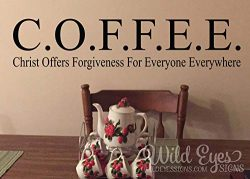 CELYCASY Coffee Christ Offers Forgiveness for Everyone Everywhere, Kitchen Decor, Dining Room, B ...