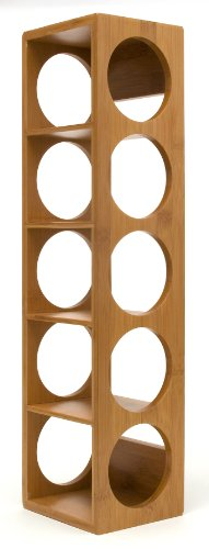 Lipper International 8305 Bamboo Wood Stackable 5-Bottle Wine Rack, 20-3/4″ x 5-3/8″ ...