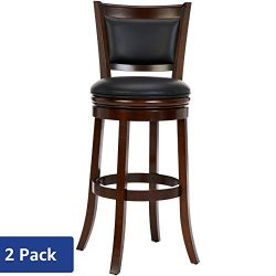Ball & Cast HSA-1102A-2S Bar Height, Pack of 2 Swivel Stool, 29″, Cappuccino