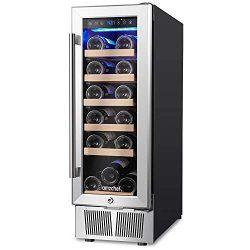 Wine Cooler, Built-in or Freestanding, AMZCHEF 19 Bottle Wine Refrigerator, Quiet, Constant Temp ...