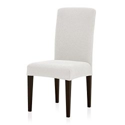 Subrtex Jacquard Dining Room Chair Slipcovers Sets Stretch Furniture Protector Covers for Armcha ...