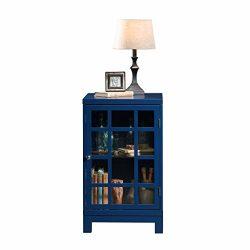 Sauder 420140 Carson Forge Display Cabinet, L: 17.91″ x W: 15.75″ x H: 27.56″, ...