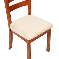 AtoZ Dining Room Chair Covers – Premium Chair Seat Covers – Removable Washable Insul ...