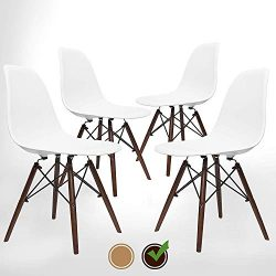 UrbanMod Mid Century Modern Style Chairs The 'Easy Assemble DSW Ergoflex Abs Plastic and & ...