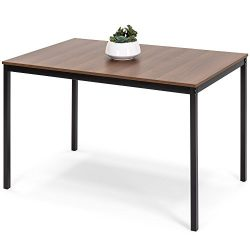 Best Choice Products 48in Multipurpose Modern Rectangular Dining Table Office Desk w/Wood Finish ...