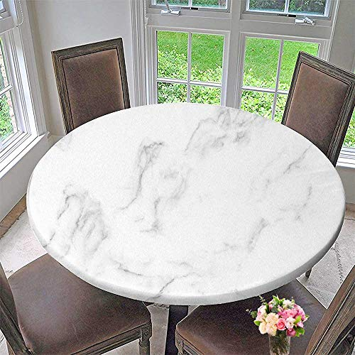 PINAFORE HOME Simple Modern Round Table Cloth Natural White Marble Texture for Skin Tile Wallpap ...