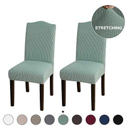 Turquoize Stretch Chair Furniture Protector Covers Jacquard Dining Room Chair Slipcovers Sets Ma ...
