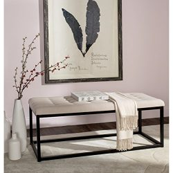 Safavieh Home Collection Reynolds Beige & Black Bench