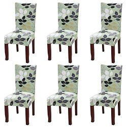 Fuloon Super Fit Stretch Removable Washable Short Dining Chair Protector Cover Seat Slipcover Ho ...