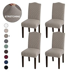 Turquoize Armless Chair Slip Covers for Dining Room Jacquard Dining Room Chair Slipcovers Sets W ...