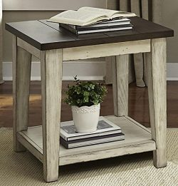 Liberty Furniture INDUSTRIES 612-OT1020 Lancaster End Table, 24″ x 24″ x 24″,  ...