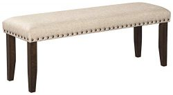 Signature Design by Ashley D397-00 Rokane Dining Bench, Brown