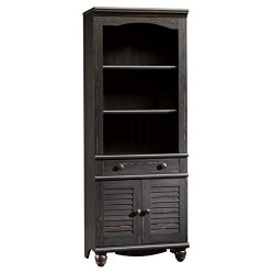 Sauder 401632 Harbor View Library with Doors, L: 27.21″ x W: 17.48″ x H: 72.24″ ...