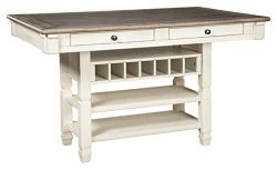 Ashley Furniture Signature Design – Bolanburg Counter Height Dining Room Table – Ant ...