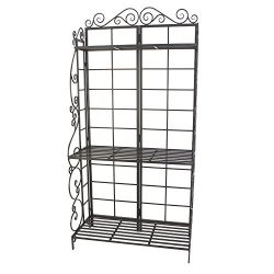 Panacea Products Baker's Rack Plant Stand, Brushed Bronze