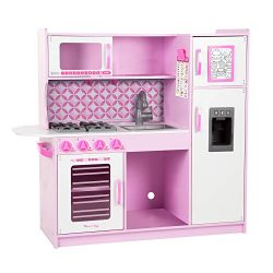 Melissa & Doug Chef's Kitchen, Pretend Play Set, Cupcake (Easy to Assemble, Durable Wo ...