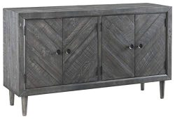 Signature Design by Ashley D568-60 Besteneer Dining Room Server Dark Gray