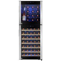 AKDY Wine Cooler Refrigerator – Beverage Chiller Fridge – Built-in Compressor – ...