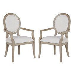 Stone & Beam Crawford Modern Wood Dining Chair, 38.75″H, Pack of 2, Grey
