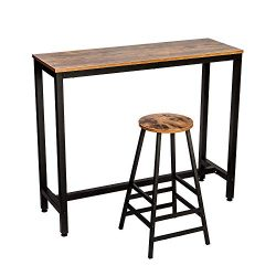 "IRONCK 2-Piece Pub Table Set, 47.2"" L 39.5""H Dining High Top Table Set with Vintage  ..."