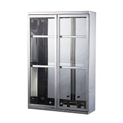 "HomCom 24"" x 16"" Stainless Steel Mirrored Storage Cabinet"