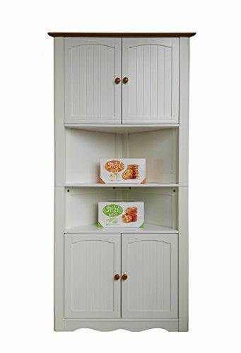 Homecharm-intl 31.1×15.74×63.78-Inch Corner Cabinet ,White(HC-003A)