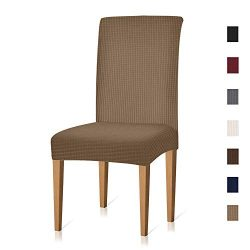 Xflyee Stretch Dining Room Chair Covers Jacquard Removable Washable Kitchen Parson Chair Slipcov ...