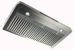 EKON NAC01-36″-T-R Super Slim Under Cabinet/Wall Mounted Kitchen Range Hood / 4 Speed Touc ...