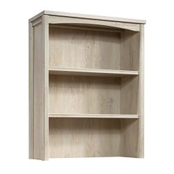 Sauder 419961 Costa Library Hutch, L: 31.30″ x W: 13.19″ x H: 40.04″, Chalked  ...