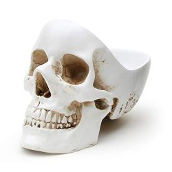 Suck UK Skull Tidy, Jewellry Box Accessories Container in White-Perfect for Storing Keys, Jewell ...