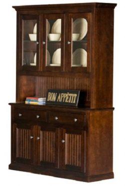 Eagle Furniture Manufacturing Coastal Dining Buffet & Hutch, 54″, White