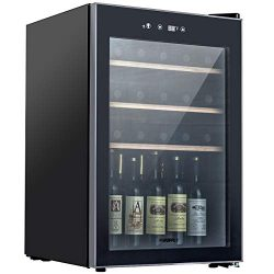 KUPPET Thermoelectric 35 Bottle Wine Cooler, Counter Top Wine Cellar, Red and White Wine Chiller ...