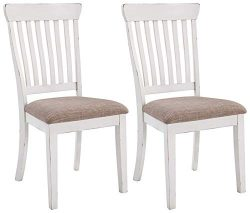 Signature Design by Ashley D603-01 Danbeck Dining-Chair, Light Brown/White