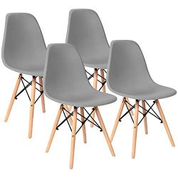 Pre Assembled Modern Style Dining Chairs Mid Century Eiffel DSW Side Chair Indoor Armless Plasti ...