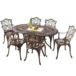 Christopher Knight Home Gardena Outdoor Furniture Dining Set, Table and Chairs for Patio or Deck ...