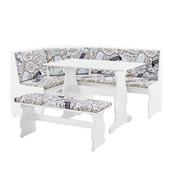 Riverbay Furniture Breakfast Nook Set