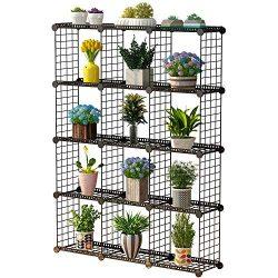 JYYG Portable Plant Stands Custom Shaped Succulents Pot Shelf Standing Baker's Racks for F ...