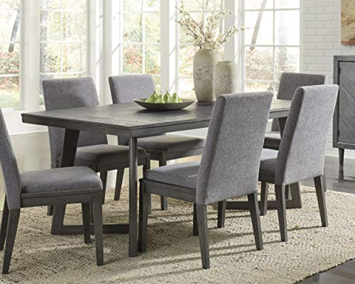 Signature Design by Ashley D568-25 Besteneer Dining Room Table Dark Gray