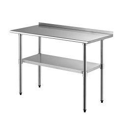 Nurxiovo 48″x24″ Workbench Industrial Restaurant Food Preparation Stainless Steel NS ...