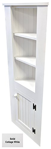 Corner Cabinet (Solid – Cottage White)