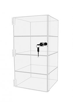 Marketing Holders Locking Vertical Acrylic Pastry Jewelry Countertop Display Stand Case Cabinet  ...