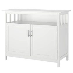 Homfa Kitchen Sideboard Storage Cabinet, Large Dining Buffet Server Cupboard Cabinet, Console Ta ...