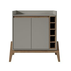Manhattan Comfort 350905 Essence 2 Tone Buffet and Wine Cabinet, Grey