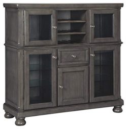 Signature Design by Ashley D637-76 Audberry Dining Room Server, Dark Gray